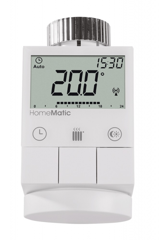 homematic funk heizk rperthermostat homematic by msc. Black Bedroom Furniture Sets. Home Design Ideas