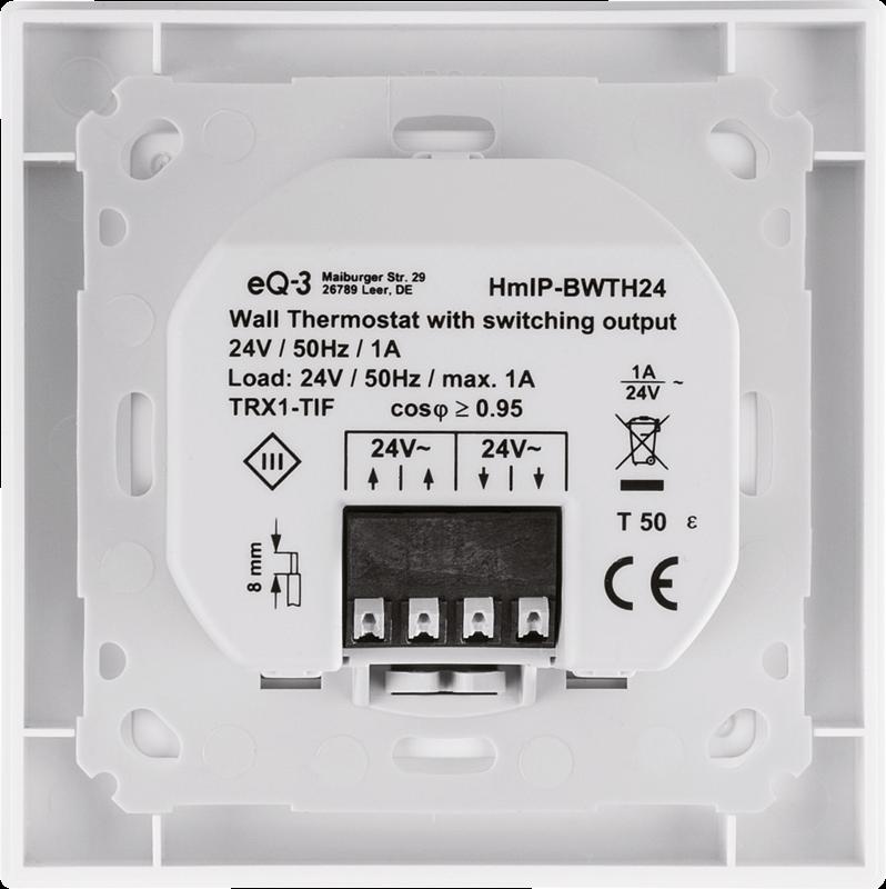 Homematic IP Wandthermostat mit Schaltausgang - für Markenschalter ...