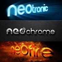 Icon Set NEOchrome / NEOtronic / NEOfire BUNDLE